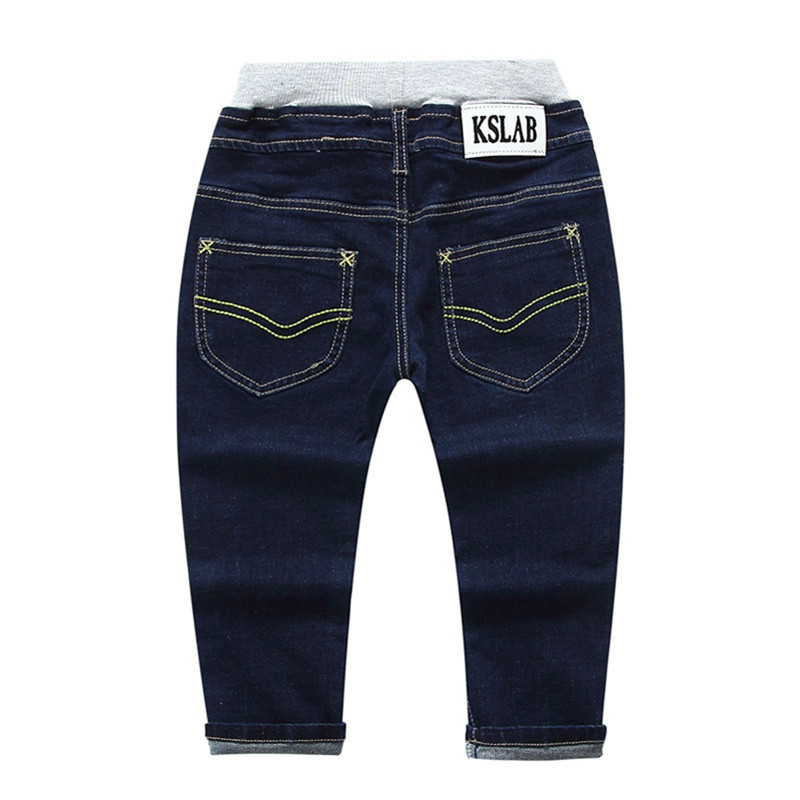 Jiuhehall 2-5 Ages Spring Autumn Boy Girls Jeans Embroidered Full Length Denim Pants For Kids Fashion Wild Babys Trousers CMB761 (5)
