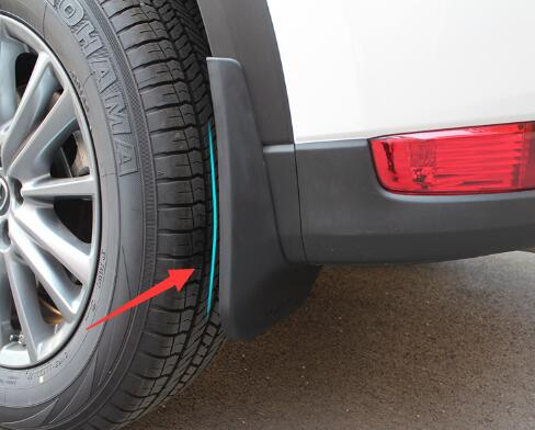 FIT FOR MAZDA CX 5 CX5 2012 2013 2014 2015 2016 MUD FLAP FLAPS MUDFLAPS GUARD FRONT REAR MUDGUARDS SPLASH FENDER MOLDING 4PCS in Chromium Styling from Automobiles Motorcycles