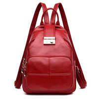 Female Backpacks Back Pack Leather Women Backpacks School Bags for Teenagers Girls Ladies Travel Shoulder Bags Mochila Sac A Dos