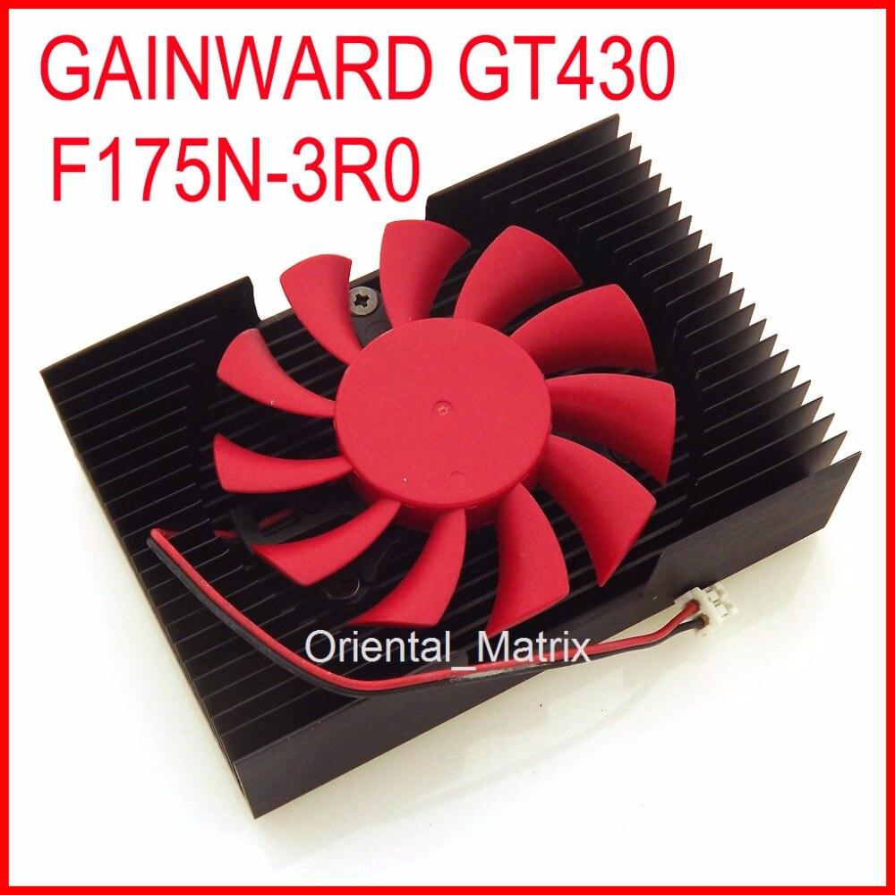 Free Shipping GAINWARD GT430 F175N-3R0 2Wire 2Pin Cooler Cooling Fan