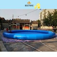 Летние Горячая Распродажа 0,6 MMPVC Материал диаметр 12 м высокая 1 большой открытый надувной бассейн детский