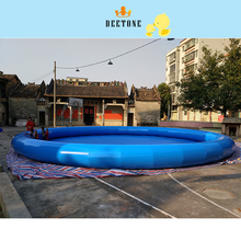 Summer hot sale 0.6 MMPVC material diameter 12m high 1m large outdoor inflatable swimming pool childrens
