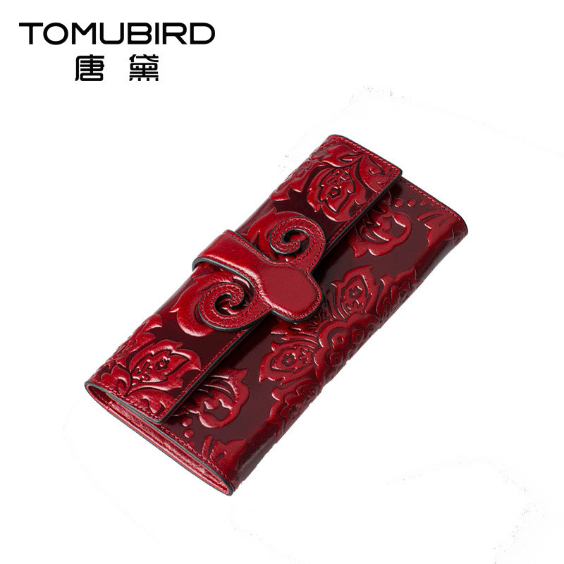TOMUBIRD women wallet leather with coin pocket Female Hasp Long Purse Flower Embossing Design High Quality Money Clips burse 2015 women s coin purse money bag case wallet keys card pouch big flower pattern hasp 6o3h