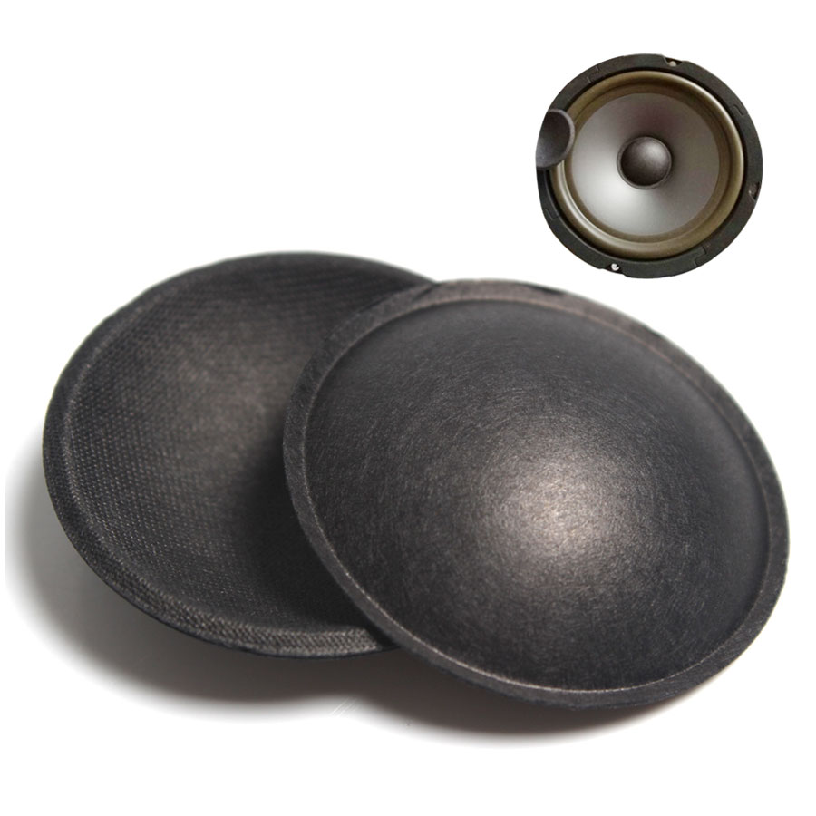 2Pcs/Lot 54MM Speaker PP Dust Cap Cover 45MM Woofer Subwoofer Speaker Repair Accessories Hard Paper Cap