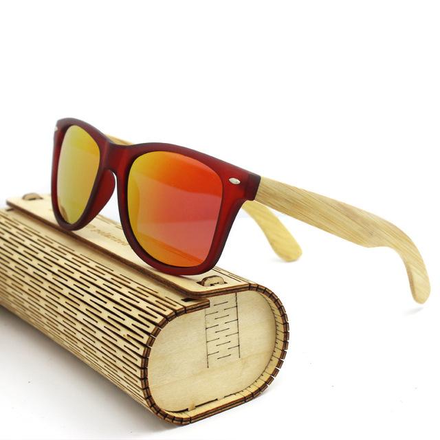 Novos Óculos De Sol De Bambu Artesanal de Bambu De Madeira óculos de Design Da Marca Óculos de Sol Para Mulheres Dos Homens Com Caixa MZ-05