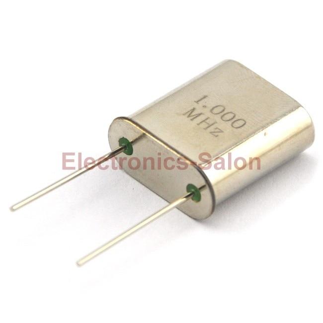 1 MHz Quartz Crystal Resonator, HC-51/U, 1.000 MHz, 1000 KHz.
