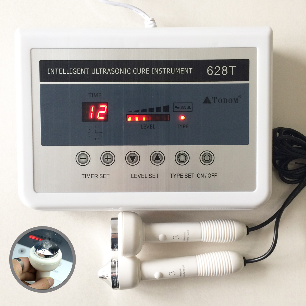 628T 2in1 Ultrasound Machine Ultrasonic Facial Skin Care Body Pain Relief Therapy Wrinkle Removal Home Beauty Device 220V/110V