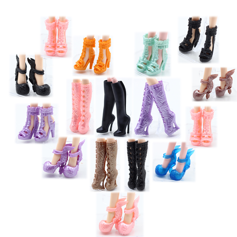 5pair Boots Shoes For Monster High Doll's Shoes Doll Boots Accessories Girls Toys Free Shipping Et024