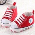 Zapatos de lona del bebé zapatos de Bebé Mocasines Niñas con cordones Clásicos Zapatillas Deportivas Botas Recién Nacido Zapatos Kids First Walker