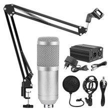 BM 800 סטודיו מיקרופון עבור מחשב הקבל מיקרופון מקצועי BM 800 סטודיו מיקרופון הקלטת קריוקי מיקרופון Microfon