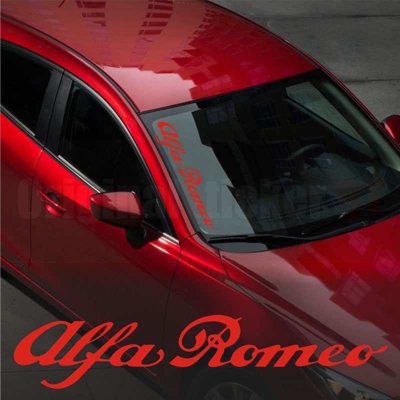 For Alfa Romeo WINDSHIELD CAR Premium STICKER Vinyl Decal 145 146 147 155 156 159 #0114