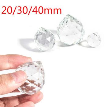 Wyczyść 20 30 40mm pryzmat z kryształowej kuli fasetowany szklany żyrandol kryształowe części do zawieszenia żarówka Suncatcher wystrój domu tanie i dobre opinie HUXUAN CN (pochodzenie) Kryształowy żyrandol other Chandelier Crystal piece 0 1kg (0 22lb ) 10cm x 10cm x 10cm (3 94in x 3 94in x 3 94in)