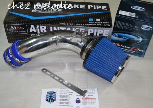 High quality AIR INTAKE pipe kit+1 Air FILTER for Honda new Odyssey 2.4, please contact with me for other car models for cold air intake kit carbon fiber filter turbo flexible ducting hose pipe fan [qpl426]