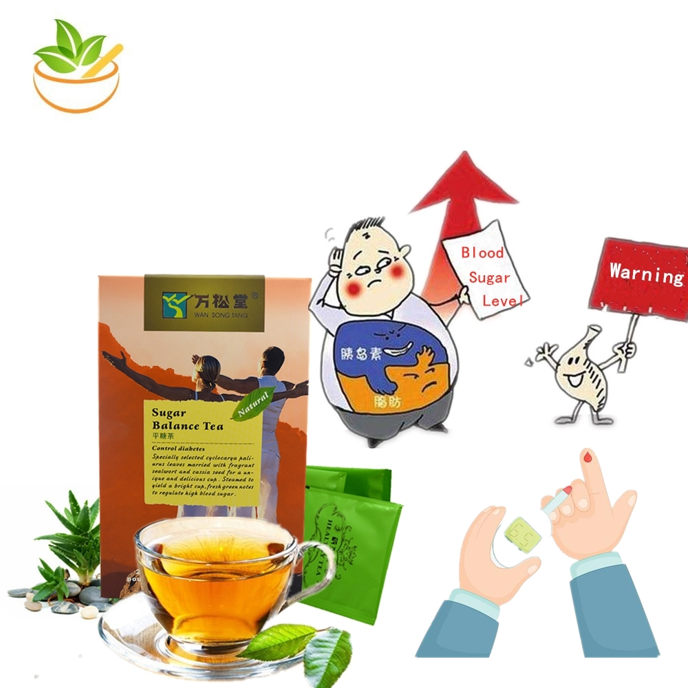 Herbal Teabags Blood Sugar Balance Regular Reduce Blood Glucose Lever Diabetes Diabetic Chinese OrganicTea