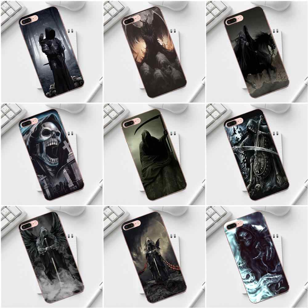 Grim Reaper Gothic Death For iPhone X XS Max XR 4 4S 5 5C SE 6 6S 7 8 Plus Galaxy A3 A5 J1 J3 J5 J7 2017 Hot Selling Fashion