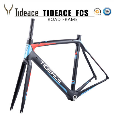 2017-2018 Tideace aero Cadre Route Frameset Made in China Carbon Fiber Road Bike Frame Bicycle Frame 50/53/55cm