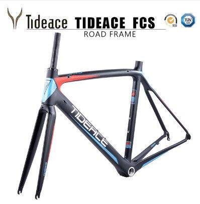 2017 2018 Tideace aero Cadre Route Frameset Made in China Carbon Fiber Road font b Bike
