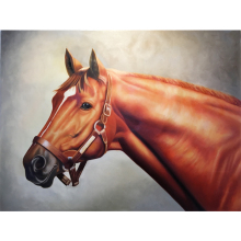 office art,horses painting,Secretariat At Claiborne,modern art for study room, hand-painted,High quality