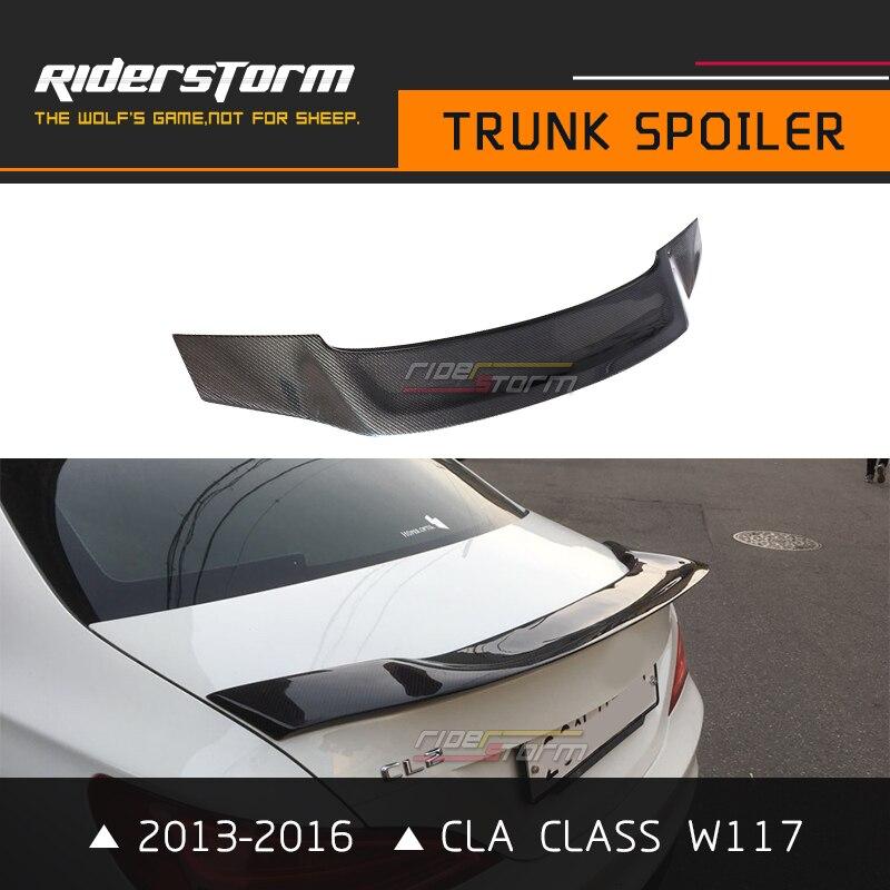 Углерода спойлер багажника cla Класс R Стиль W117 заднее крыло bootlid губ Интимные аксессуары 2013-2017 CLA250 CLA180 CLA200 отличное применимость