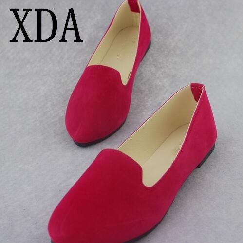 XDA 2018 Summer Women Flats Casual Shoes Slip On Woman pointed toe Loafers Fashion Casual Shoes Moccasins single Shoes F119 summer slip ons 45 46 9 women shoes for dancing pointed toe flats ballet ladies loafers soft sole low top gold silver black pink