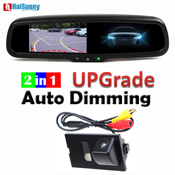 HaiSunny Auto Dimming Rearview Mirror Monitor 4.3 Inch With Bracket Reverse Camera For Land Rover Freelander 2 Discovery 3 4
