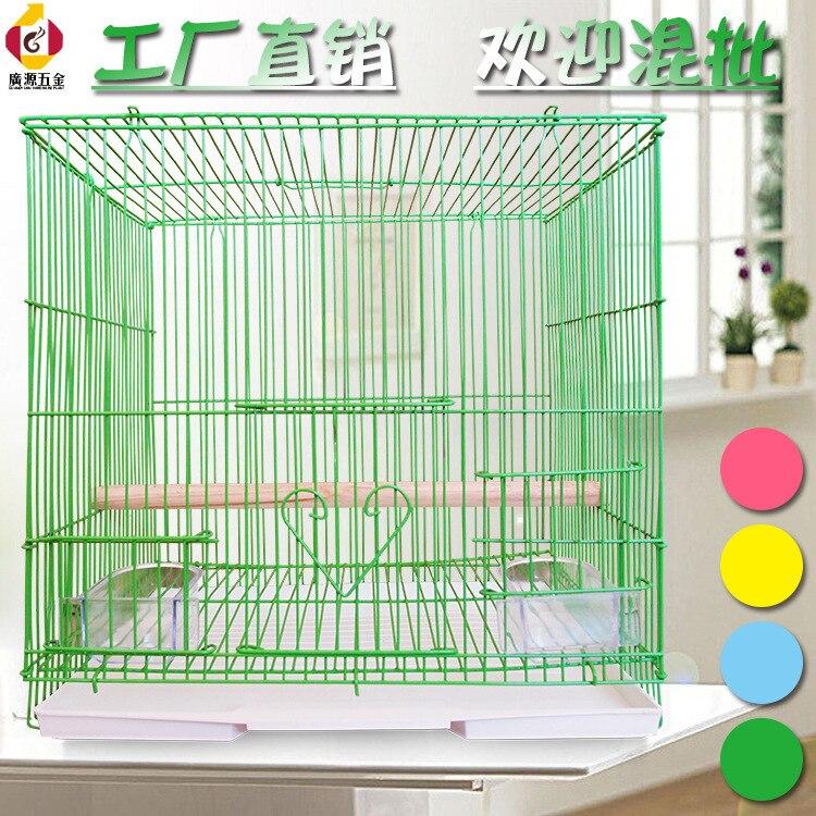M & K accueil Aviculture outil fournitures pour animaux Cage à oiseaux oiseau maison perroquet Cage équipée bâton debout nourriture fenêtre poignées plateaux - 2