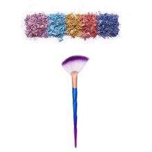 Gujhui novo 1 pc fundação escova sereia escova de diamante portátil magro profissional maquiagem escova c0920