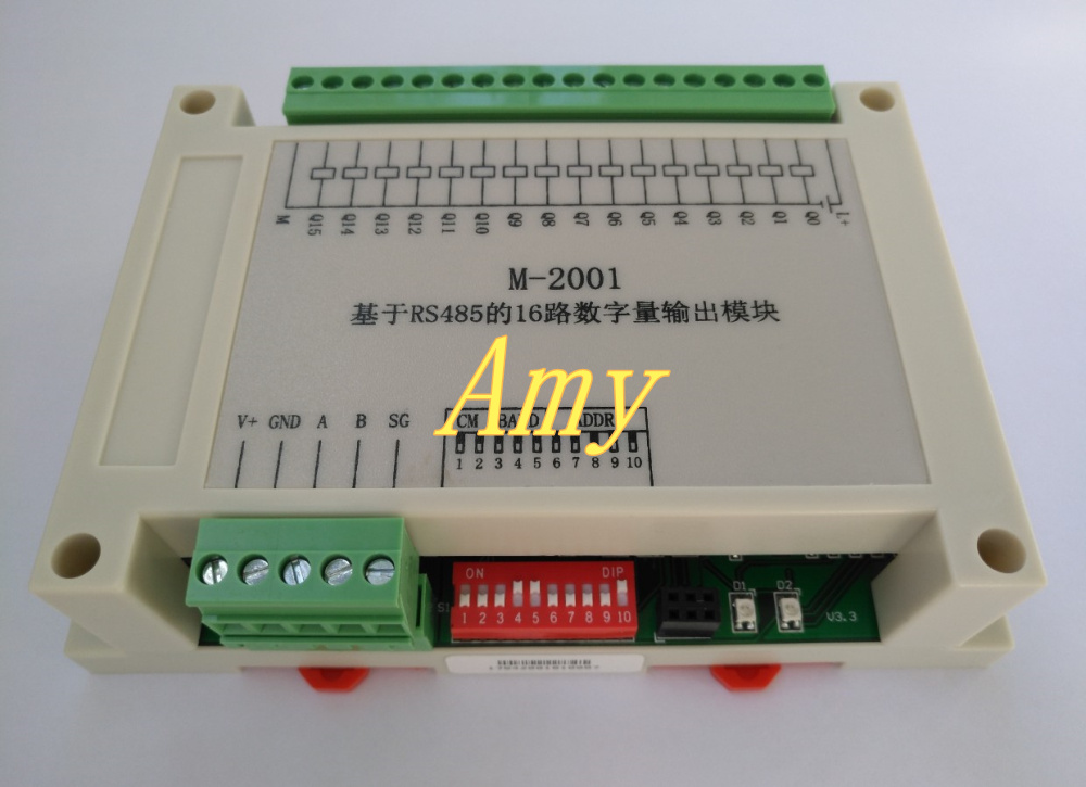 Data acquisition module RS485 16 switch quantity communication card collector collector output DO