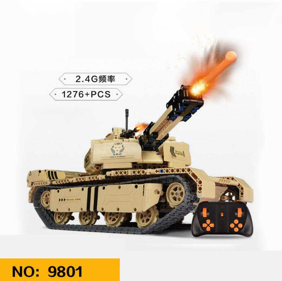 Modern military Armed desert lion army forces 2.4Ghz radio remote control tank building block with shooting model bricks rc toysModern military Armed desert lion army forces 2.4Ghz radio remote control tank building block with shooting model bricks rc toys