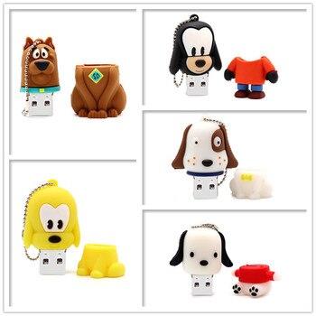 Pen drive cartoon animals usb flash drive 4GB 8GB 16GB 32GB 64GB cute dogs memory stick u disk creative gift pendrive cle usb цена 2017
