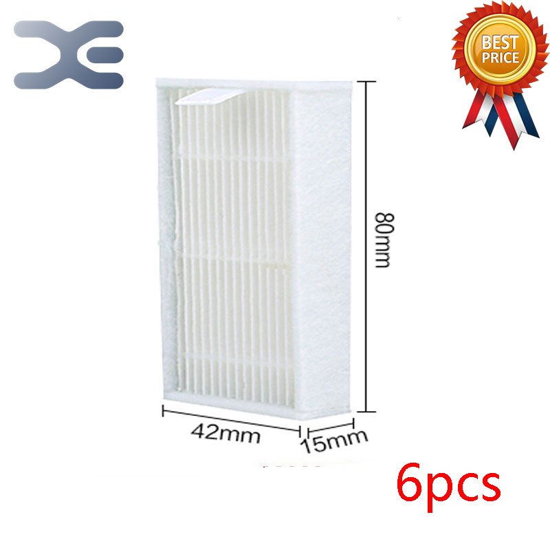 6 Pcs High Quality Vacuum Cleaner Parts Ecovacs CR120 Hepa Vacuum Cleaner Filter Dust Strainer