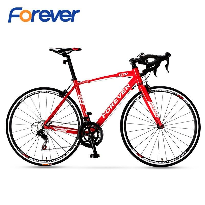 FOREVER 700C vélo de Route en carbone Rode vélo vélo de saleté VTT avec cadre en alliage d'aluminium vélo de course 16 vitesses vélo de Route