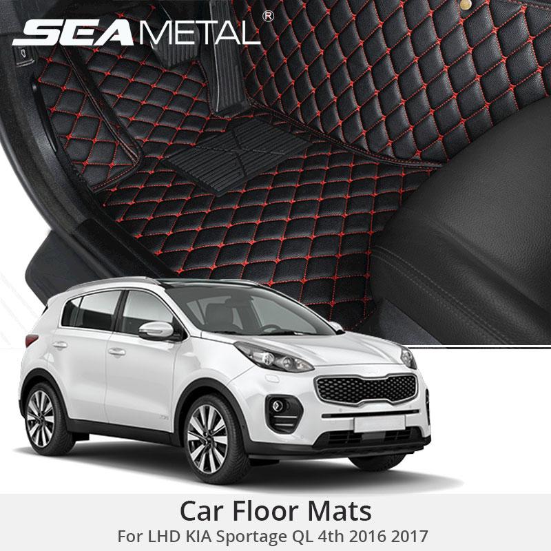 For LHD KIA Sportage QL 4th 2017 2016 Car Floor Mats Leather Rugs Car Styling Custom
