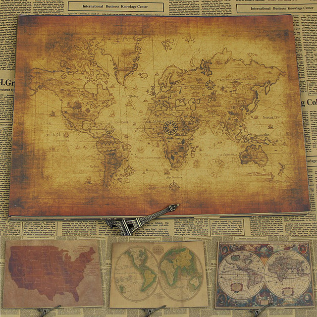 Vintage paper retro anime poster world map postervintage home wall vintage paper retro anime poster world map postervintage home wall sticker decor 30 gumiabroncs Image collections