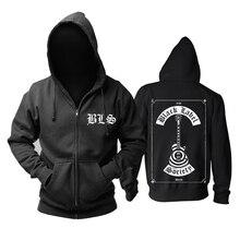 Bloodhoof Black Label Society Schwere metall mucis neue zipper HOODIE Asiatische Größe