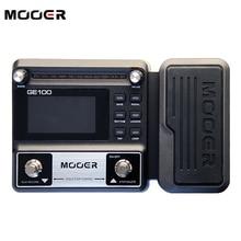 Nueva mooer ge100 guitar multi-effects processor pedal de efectos pedal de gran pantalla lcd de alta luminosidad