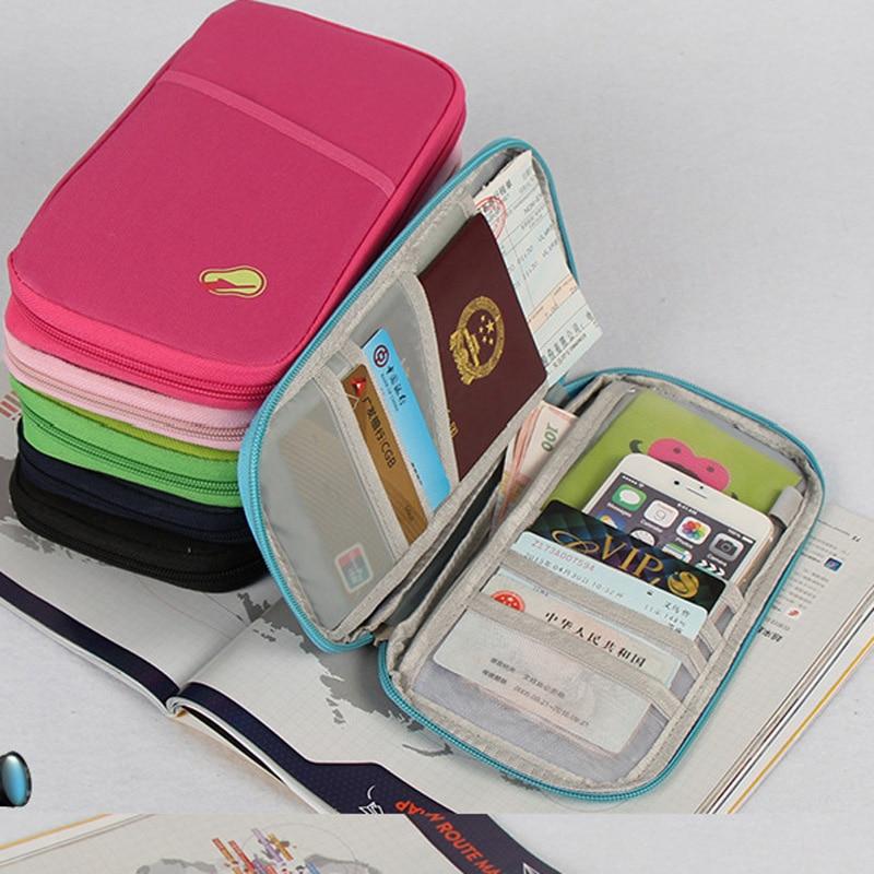 Travel Document Organizer Bag Travel Wallets with Passport Cover Holder Fashion Design Cheap Passport Wallets Credit Card Holder