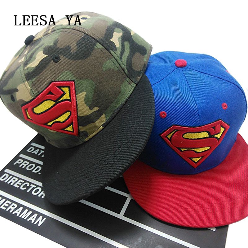 Fashion Superman Snap Back Snapback Caps Hat Super Man Adjustable Gorras Hip Hop Casual Baseball Cap Hats for Men Women Bone miaoxi fashion women summer baseball cap hip hop casual men adult hat hip hop beauty female caps unisex hats bone bs 008