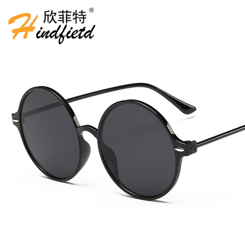 Hot Fashion Men Sunglasses Women Plastic Titanium round frames ...