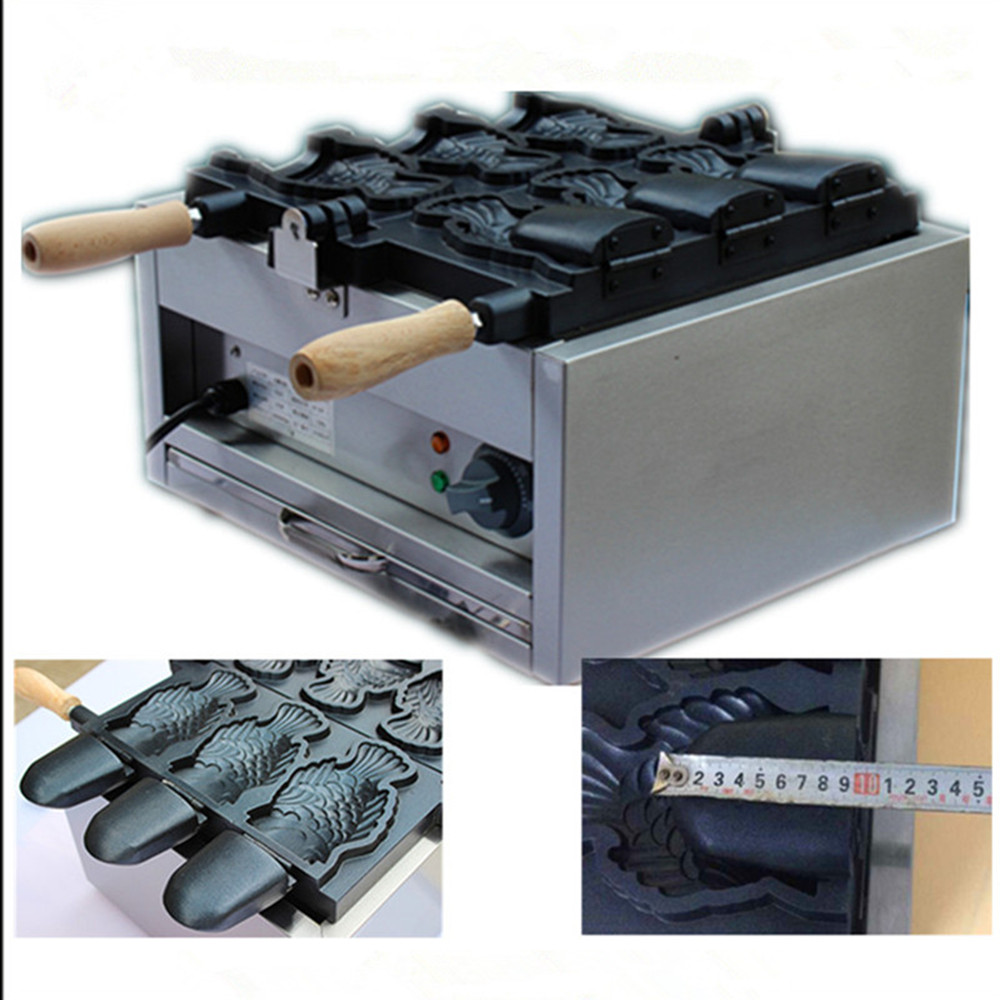 220V electric ice cream taiyaki fish waffle machine 3pcs open mouth korean ice cream fish waffle maker ZF taiyaki maker with ice cream filling taiyaki machine for sale ice cream filling to fish shaped cake fish cake maker