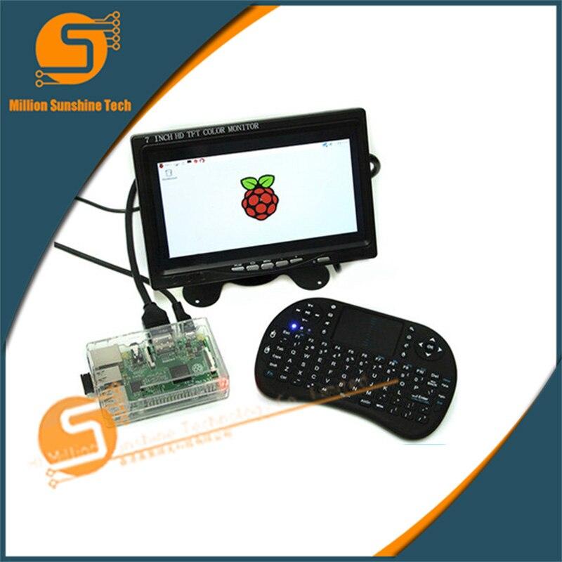 Écran tactile 7 pouces Raspberry pi 2/3 LCD + clavier + boîtier ABS Raspberry pi