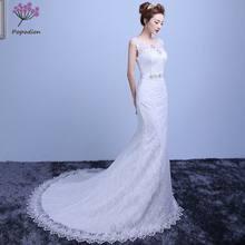 Popodion rhinestone lace mermaid wedding dress bride dress wedding dress  vestido de noiva WED90436 5144ee8292c6