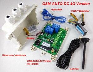 IP65 à prova d' água 4G gsm chamada sms controle remoto relé controlador gsm portão opener switch para controlar eletrodomésticos estacionamento syst