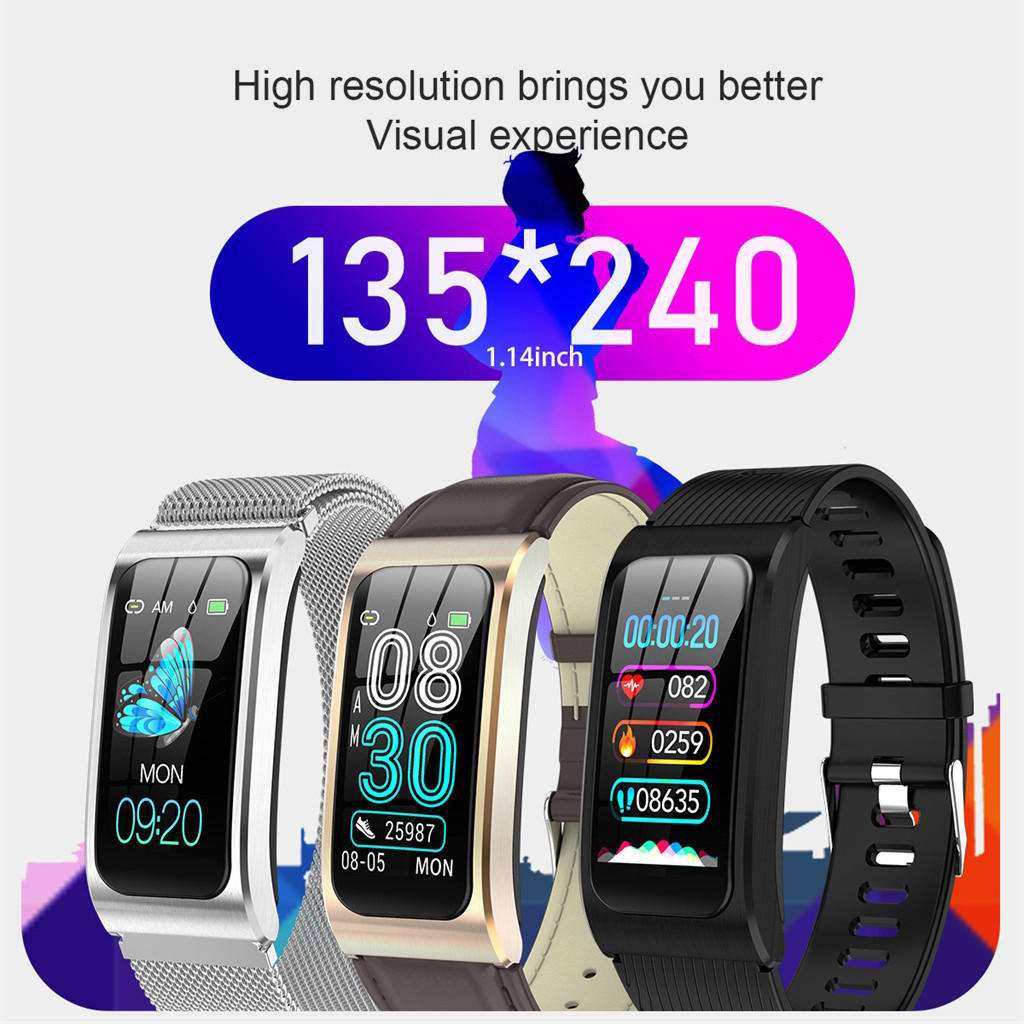 HIPERDEAL  AK12 Smart Bracelet IP68 Waterproof Blood Pressure Monitor Fitness Tracker Smart Watch  Jy11