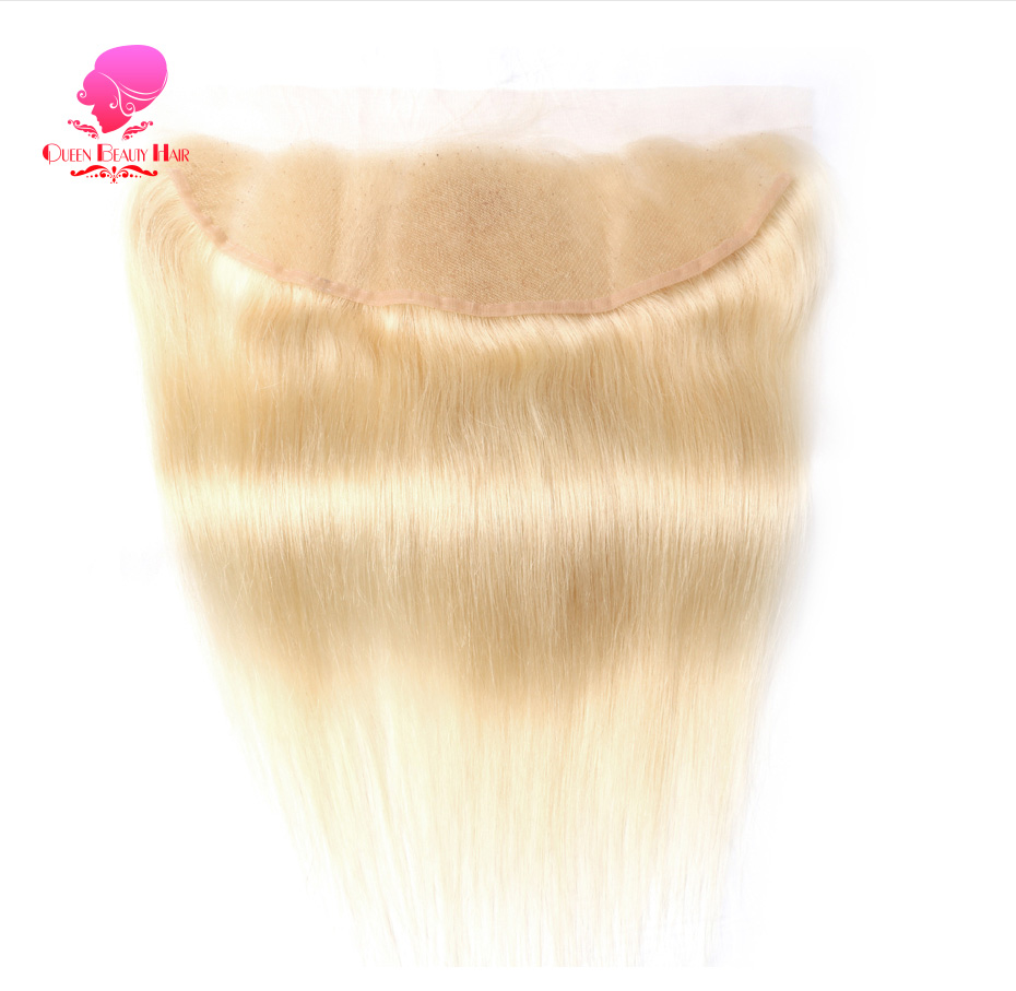 HTB1ell3gPihSKJjy0Fiq6AuiFXaP QUEEN BEAUTY 613 Blonde Straight Brazilian Hair Weave Human Hair Bundles with Closure 3PC Remy Hair and 1PC Lace Frontal Closure