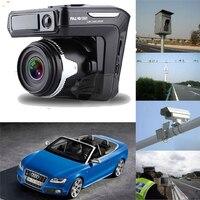 3 In1 Russian Version Car DVR Radar Detector 2 4 Display HD 1280x720P Car Camera Gps
