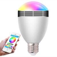 6W LED Bulbs Wireless Bluetooth Speaker Audio Speaker E27 B22 RGB Bluetooth 4 0 Music Playing