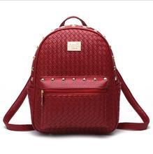 Женщины рюкзаки моды ПУ кожаный мешок тиснением крокодил картина небольшой рюкзак Школьные Сумки для девочек