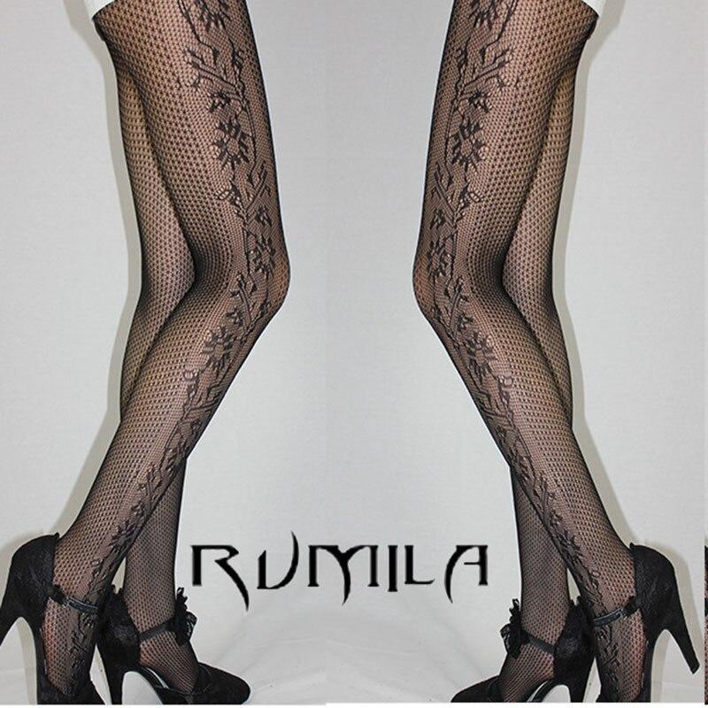 Fashion Womens Lady Girls Black Sexy Fishnet Pattern Jacquard Stockings Pantyhose Tights  Skull Woman 1pcs Dww37