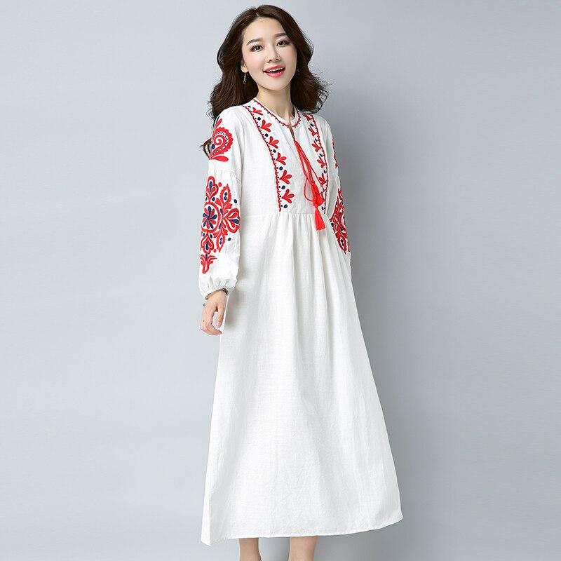 Vintage Frauen Kleider Boho Embrodery Maxi Kleid Weiß Edle Kleider Großen  Größe Vestido Femme Robe Lange Kleider Gothic vestidos mujer in Vintage  Frauen ... 133b0db552